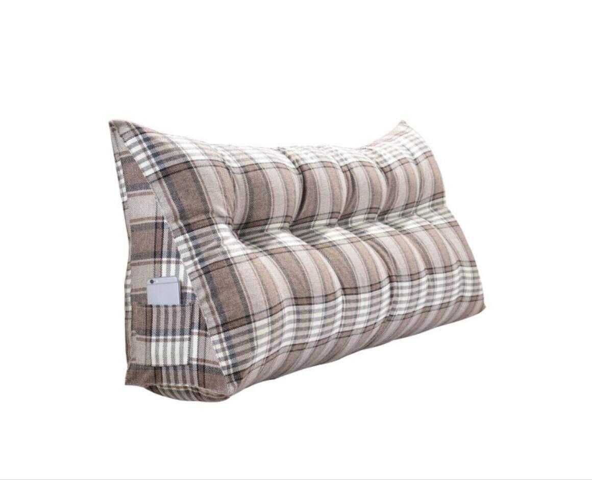 Cuscino Cuscino Pillow Head Bed Triangolo Cuscino Doppio Cuscino Letto Soft Back Bed Grande Cuscino Divano sfoderabile e Lavabile 150cm (5 Fibbie) Cuscino Vita