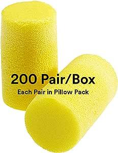 protection auditive bouchons doreille /œil de boutique/® Ear Soft Yellow n/éon Taille Emball/é 50/paires