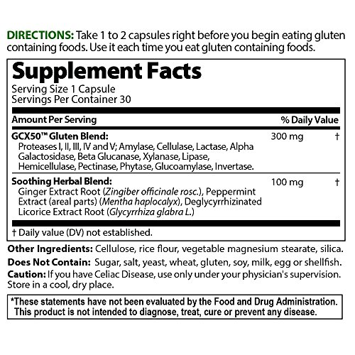 Healthy Digestives Gluten Cutter enzyme formula - Helps Improve your bodies Gluten digestion and assist in breaking down Wheat, Dairy and Other Grains ...