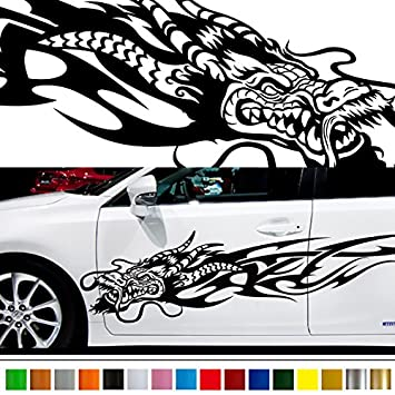 Amazoncom Dragon Car Sticker Car Vinyl Side Graphics Car - Car vinyl decals custom