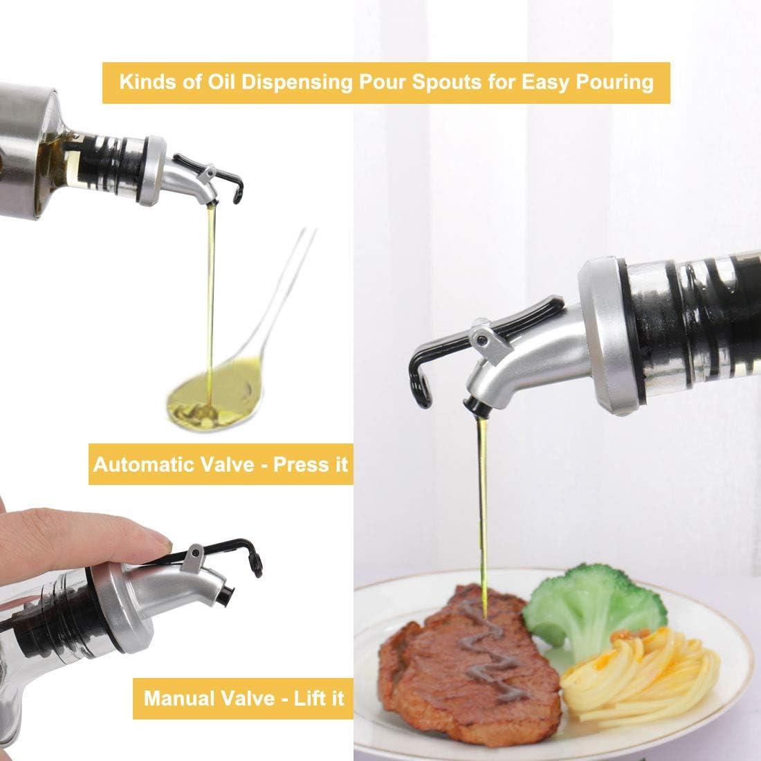 uxcell 3 Pcs Oil Vinegar Bottle Dispenser Cooking Wine Sprayers ...