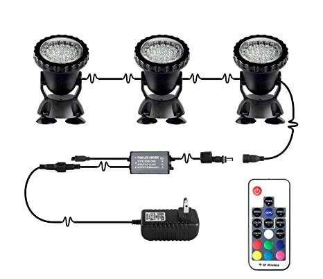 Led Lamps Remote Control Rgb Underwater Spot Light Highly Waterproofing Ip68 Tank And Aquarium Landscape Lights For Swimming Pool Pond Led Lights & Lighting