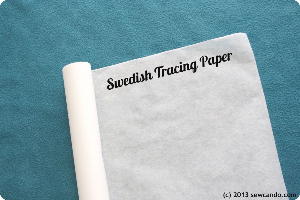 Tracing Paper - White Sewable Swedish Tracing Paper 29'' x 30' by Birch Street Clothing