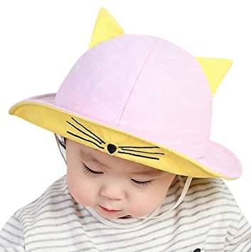 Image Unavailable. Image not available for. Color  Baby s Foldable Cat Ear  Sun Hat ... 42a3dead2b5