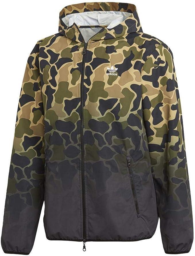 Adidas Windbreaker Jacket – Camo GreenBlackMulti: Amazon