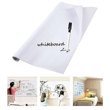 Vinilo Pizarra Blanca Adhesivo Removible para Escribir y ...