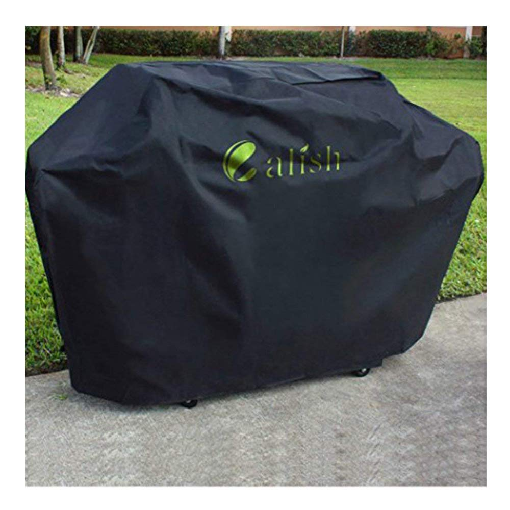 Calish Barbecue Cover Heavy Duty Waterproof Breathable Oxford fabric Large 145cm (Black) CALISH--0039