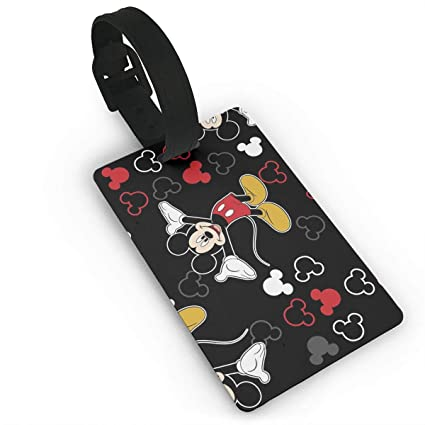 9160aab46461 Amazon.com  WSXEDC Luggage Tags Mickey Mouse Black Suitcase Labels Bag Tag  Travel ID Identifier Baggage Tag  Home   Kitchen