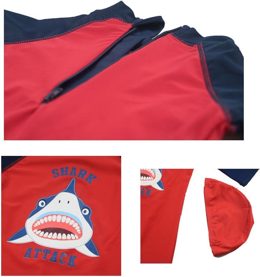 AODEW Boys Rash Guard One Piece Swimsuit Swimwear Bathing Suit Zipper UV Sun Protective