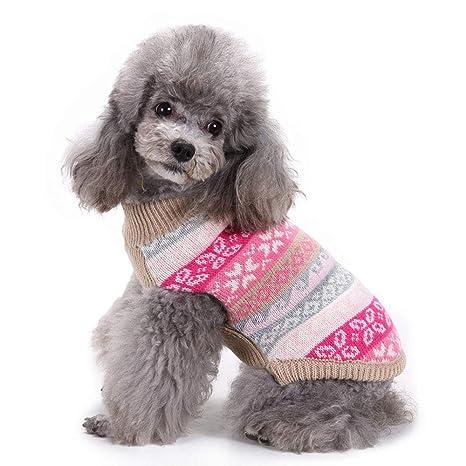 FONLAM Jersey para Perro Cachorro Gato Chaleco Disfraz Ropa Traje de Fiesta Copos de Nieve Navidad