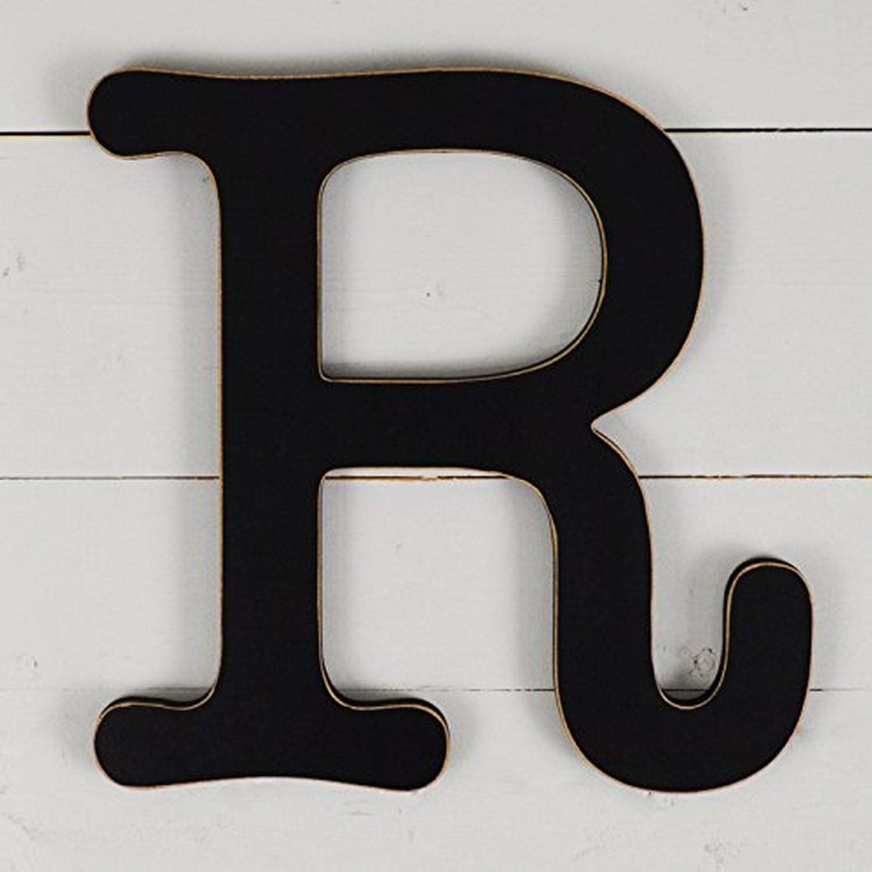 "UNFINISHEDWOODCO 300577 11.5"" Typewriter Wall Decor Letter R-Black"