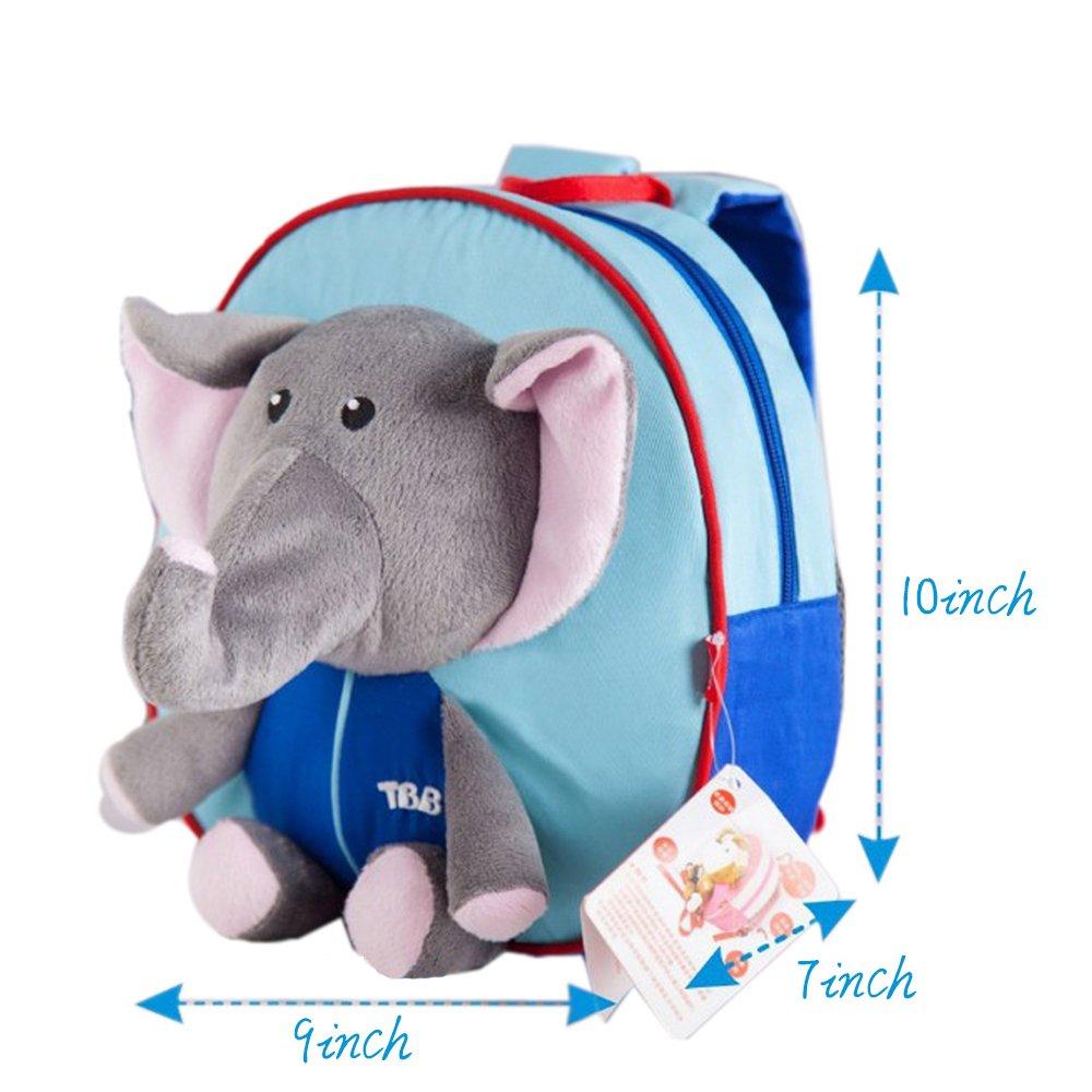 Eonkoo Lovely 3d Plush Elephant School Bag Backpack For Taa Furla Metropolis Comic Preschool Baby Toddler Zoo Cartoon Safety Harness Leash Outdoor Satchel Book