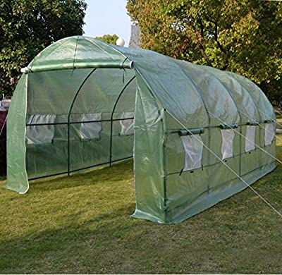 Larger Hot Green House 20'X10'X7' Walk In Outdoor Plant Gardening Greenhouse Cover (Frame Does Not Included)