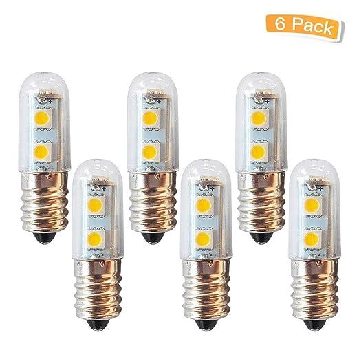 LXcom E12 - Bombilla de luz para frigorífico o microondas (1 W, 7 ...
