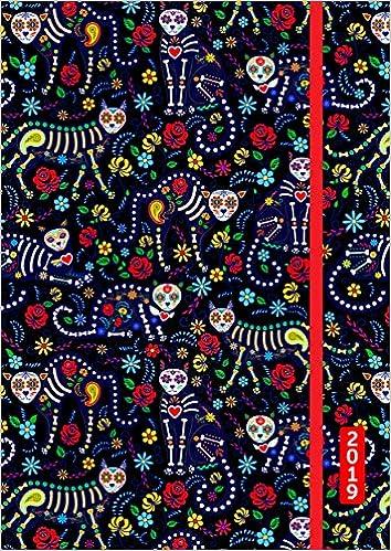 Date And Time Calendar August - December 2020 Cat Skulls Academic Planner Calendar 2019 Flexible Cover Daily