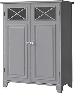 Elegant Home Fashions Dawson Bathroom Cabinet, Grey