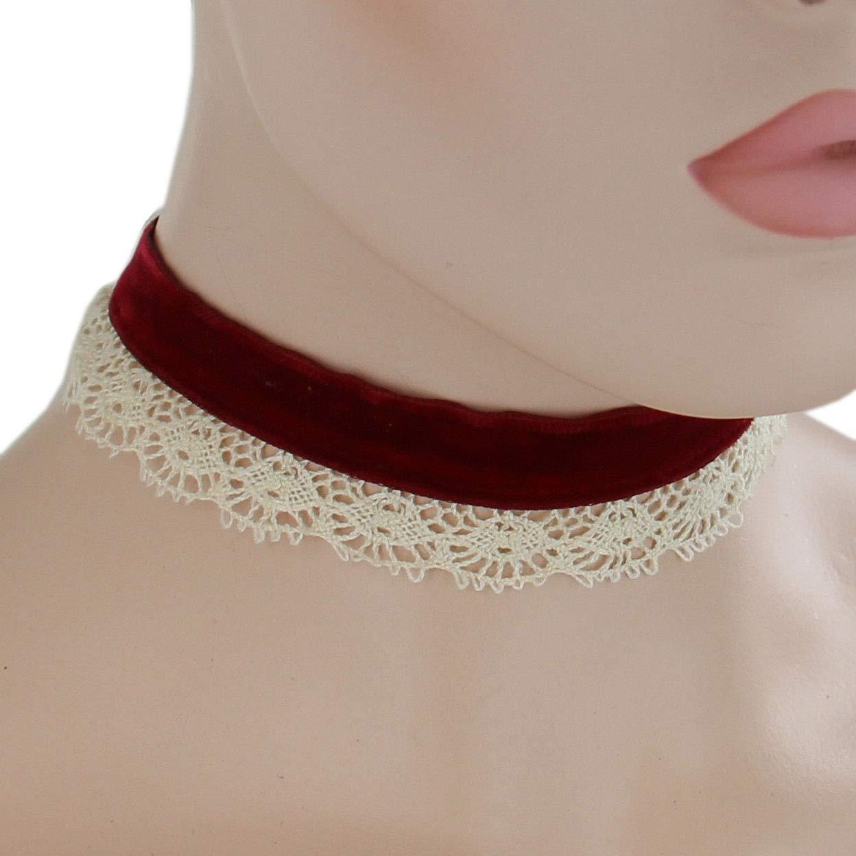 Web /& Lace Collar Necklace