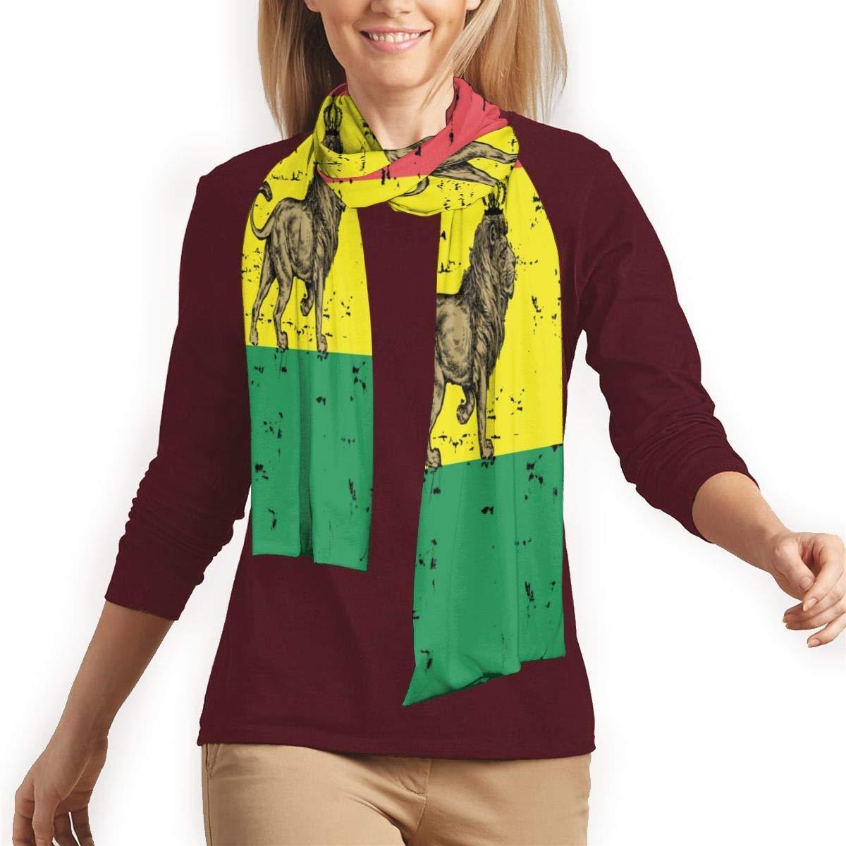 CVDGSAD Rasta Cool Lion Jamaika Flagge Schal Leichte Weiche M/änner Schals Lange Warme Schal Schals Baumwolle Frauen Decke Schal F/ür Fr/ühling FA