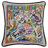 Catstudio | Florida Throw Pillow | Hand-Embroidered | 20'' x 20''