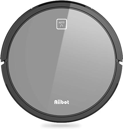 AIIBOT V9S Robot Aspirador con 4 Etapas Sistema de Limpieza, Succión Potente, Carga Automática, Tranquilo, Excelente para el Pelo de Animales(V9S-Grey): Amazon.es: Hogar