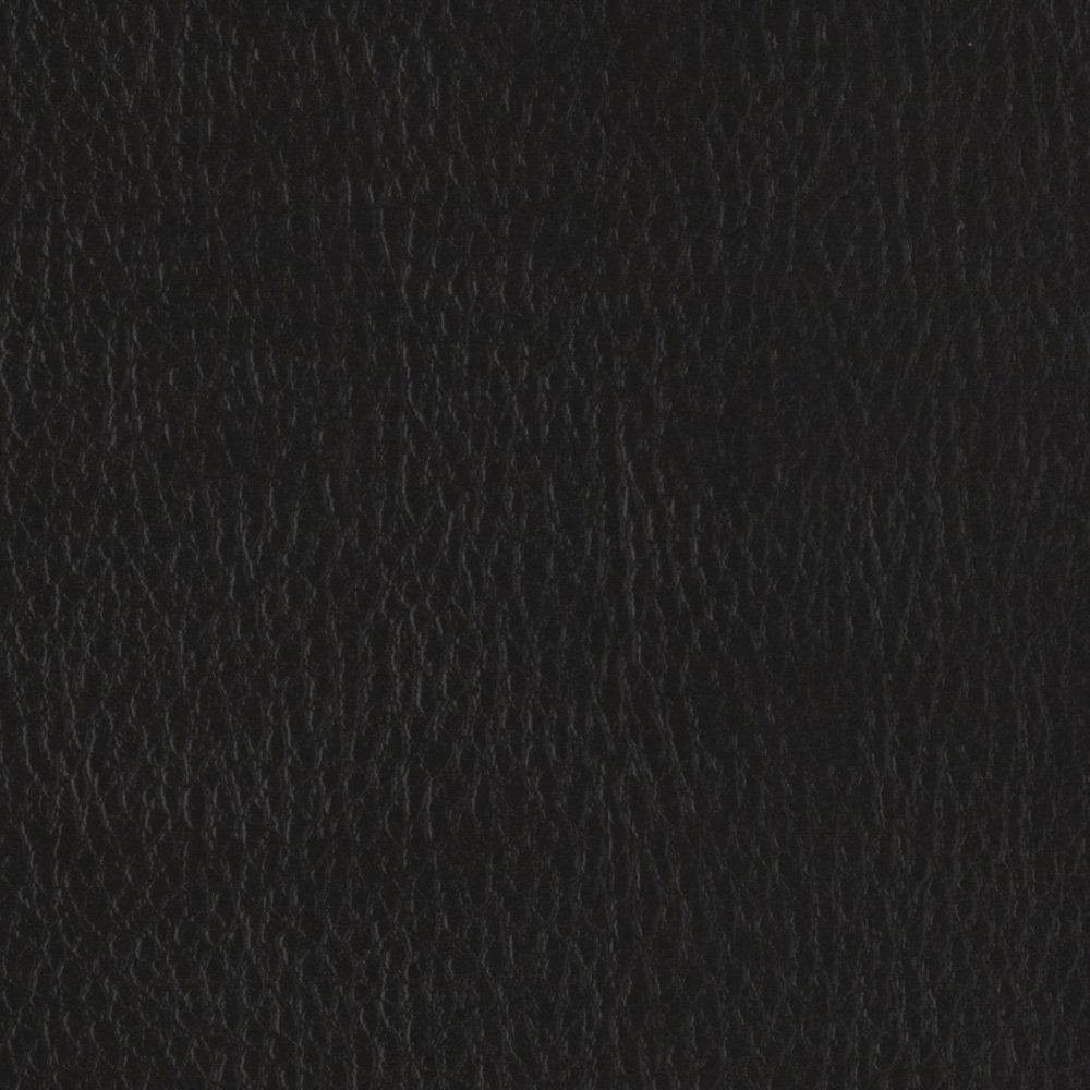 Flannel-Backed Faux Leather Deluxe Black Fabric By The Yard