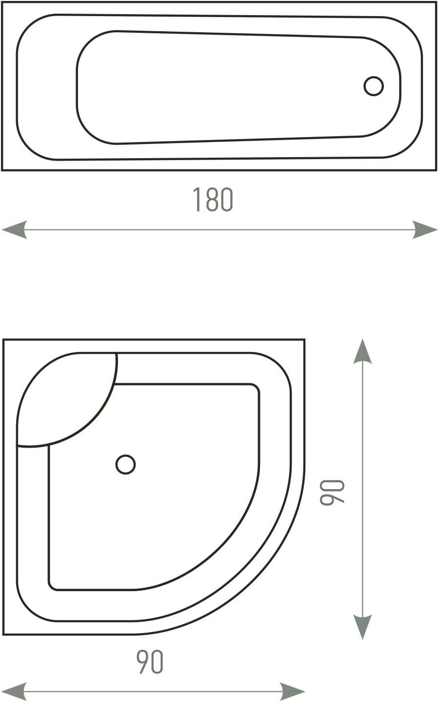 Tatkraft French Poppies Cortina de Ducha Peva Impermeable Resistente al Moho 180x180cm con 12 Anillas Custom Design
