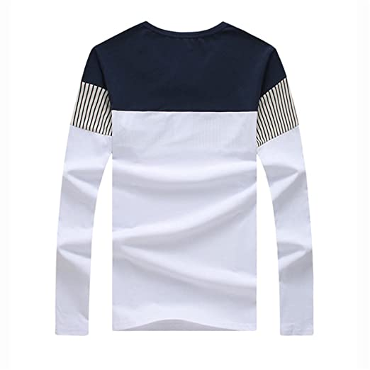 Anthony Moore 2017 Men Slim Fit Long Sleeve T Shirts Cotton Casual Clothing | Amazon.com