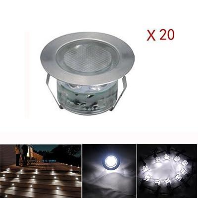 20x Lampe De Spot Led Pour Terrasse Enterre Plafonnier Ip67 Acier