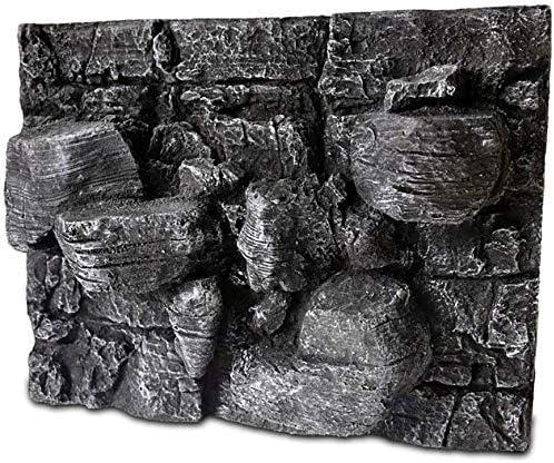 水槽の装飾水族館の装飾爬虫類の生息地の背景水族館3D岩形PUフォームの背景(色:灰色)