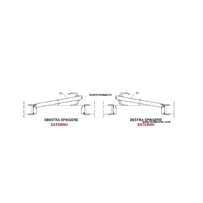 Paire de tendeurs de volets droit et gauche Pi/émont noirs