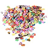 1000Pcs Polymer Clay 3D Nail Art Decoration Mix Flowers Fimo Cane For DIY Acrylic Nail Phone Supplies