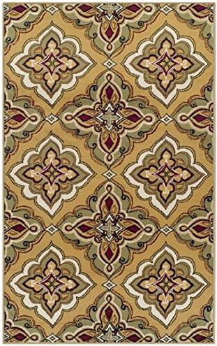 Superior Designer Crawford Gold Area Rug 8' x 10'
