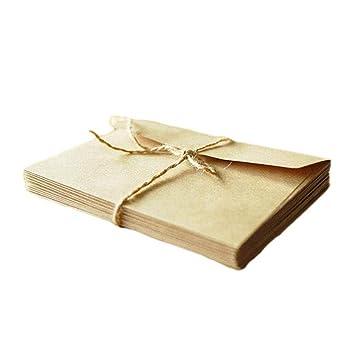 50 sobres de papel de estreza Milopon, sobres para cartas ...