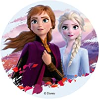 """Disney Frozen II Elsa & Ana Cake Topper Round 8"""""""