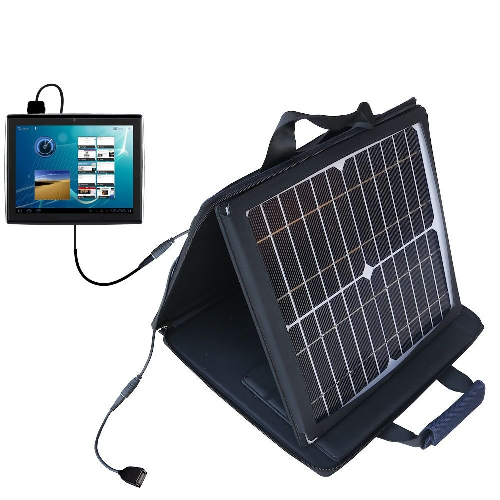Le Pan TC978 / Le Pan S compatible SunVolt Portable High Power Solar Charger by Gomadic - Outlet- speed charge for multiple gadgets