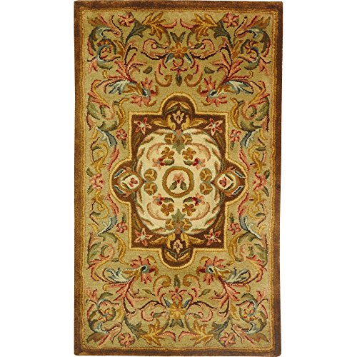 Safavieh Classic Collection CL220A Handmade Traditional Oriental Beige and Olive Wool Area Rug (2'3
