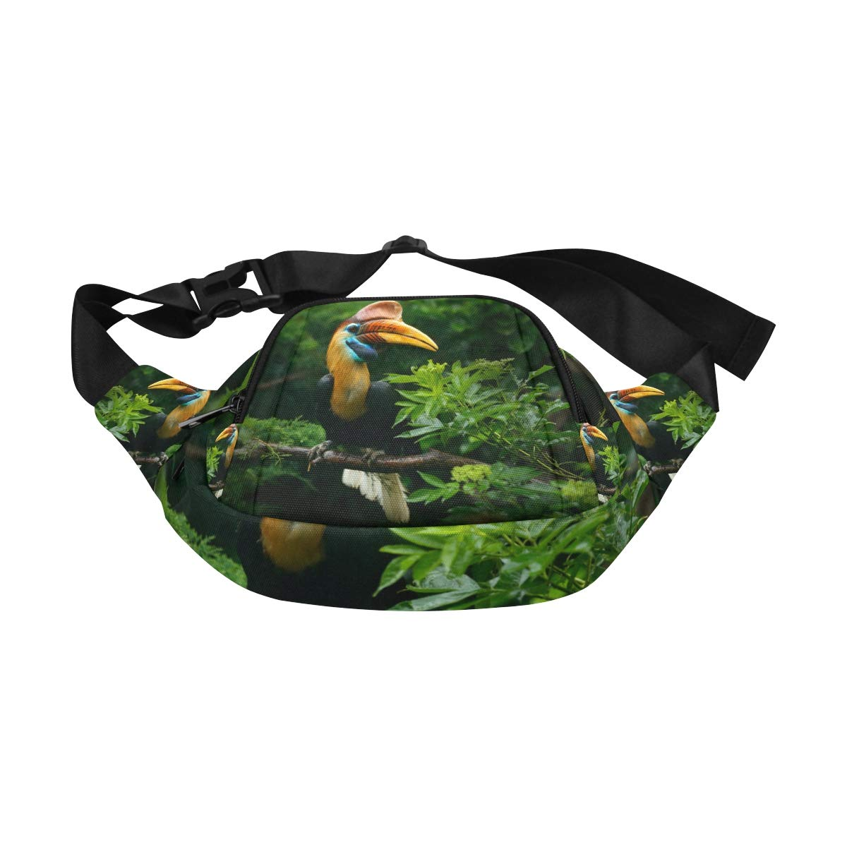 Close-up Portrait Of A Hornbill Bird Fenny Packs Waist Bags Adjustable Belt Waterproof Nylon Travel Running Sport Vacation Party For Men Women Boys Girls Kids