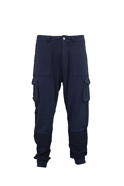 Felpati Pantaloni Pantaloni Uomo Uomo Navy 0nOkw8P