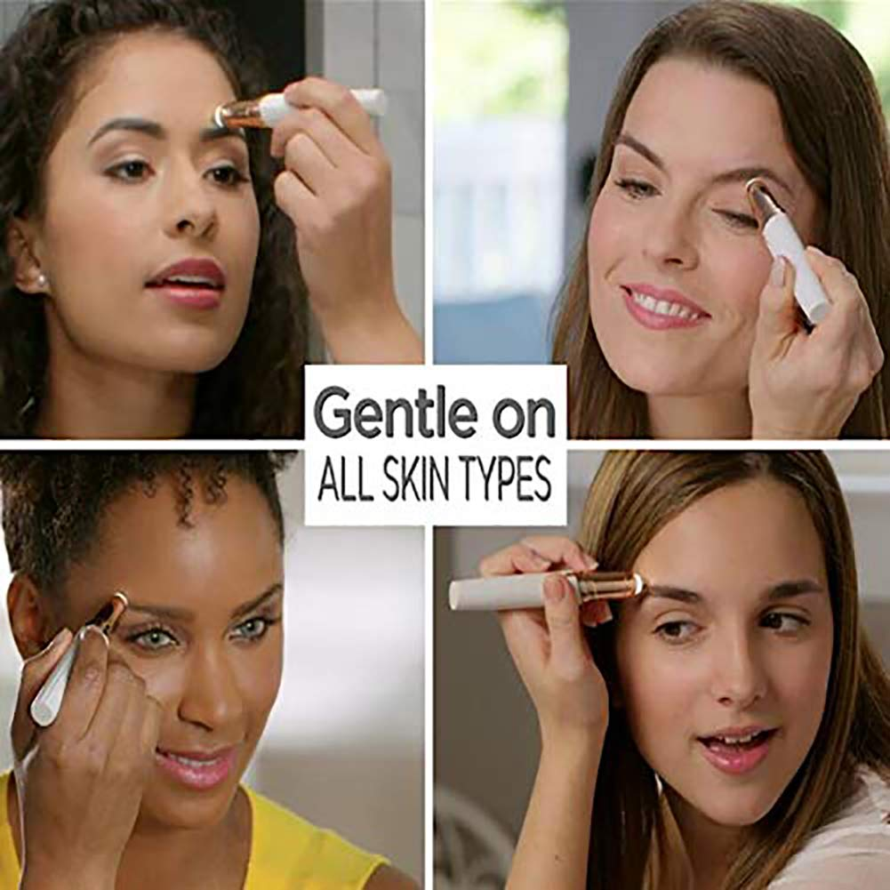 Flawlessly Brow Hair Remover - Brows Best Eyebrow Trimmer Women Painless Hair Remover, Flawlessly Eyebrow Remover As Seen On TV by Life In Color (Image #3)
