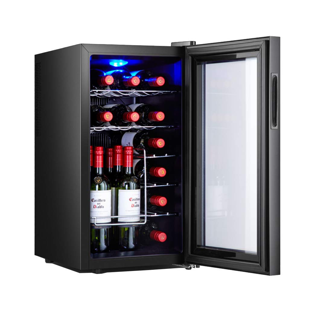 Oceanindw red and White Wine Cellar,Drug Reefer,Drug Refrigerator thermoelectric Wine Cooler,freestanding Refrigerator,Quiet Refrigerator,Stainless Steel by Thermostat cabinet