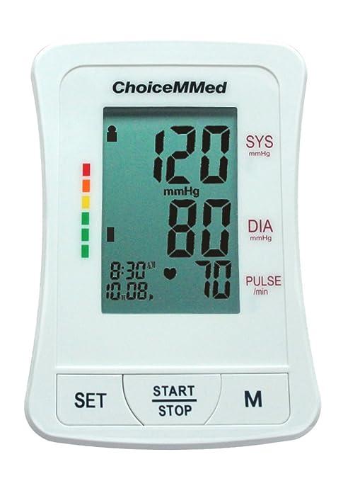Totalmente automático digital brazo Tensiómetro presión arterial Monitor con clasificación de Who BP11 (Blanco)