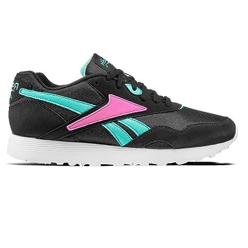 Zapatillas Reebok - Rapide OG Su Negro/Turquesa/Rosa Talla: 44: Amazon.es: Zapatos y complementos