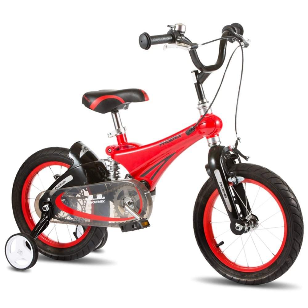 YANGFEI 子ども用自転車 キッズバイクすべての地形の男の子のバイク活気のある子供の自転車スタビライザートレーニングの車輪と括弧 212歳 B07DWW6YDHRed -12 inch