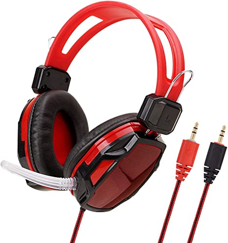 LDQLSQ Cable Gaming Headset PC, USB 3.5Mm Xbox / PS4 Headset con ...