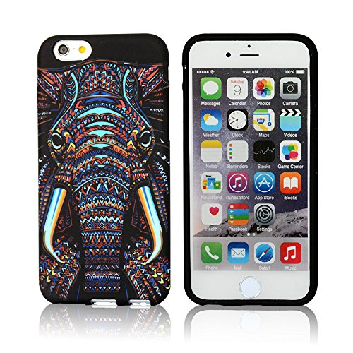 CLOUDS iPhone 6 Plus Case, Night Glow, Cool Cute Elephant HD Vintage...