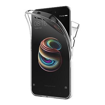 AICEK Funda Xiaomi Redmi 5A, Transparente Silicona 360°Full Body Fundas para Xiaomi Redmi 5A Carcasa Silicona Funda Case (5,0 Pulgadas)