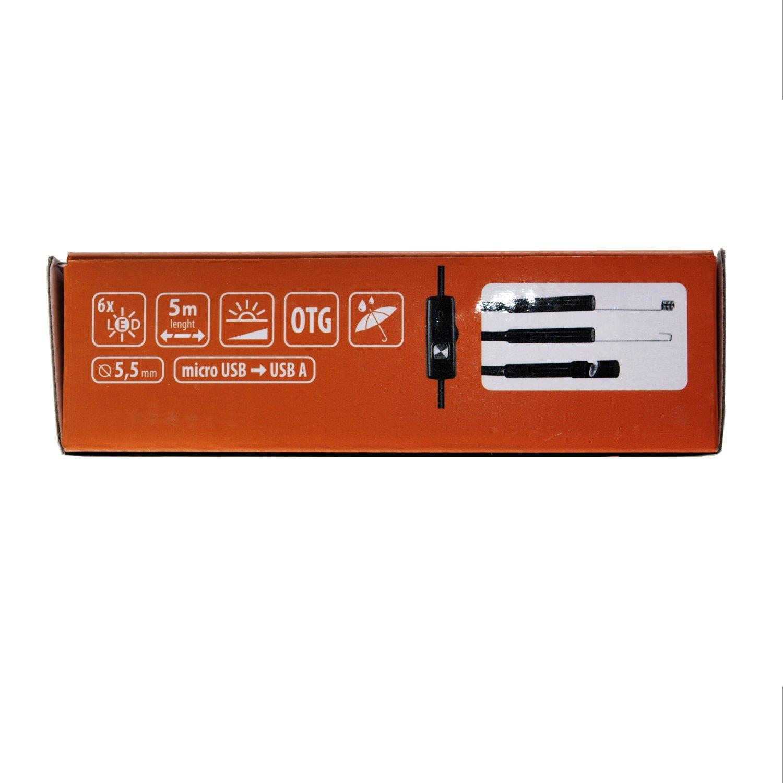 Media-Tech MT4095 Endoskopkamera USB Inspektionskamera mit LED-Licht Endoskop Kamera 5 m Android