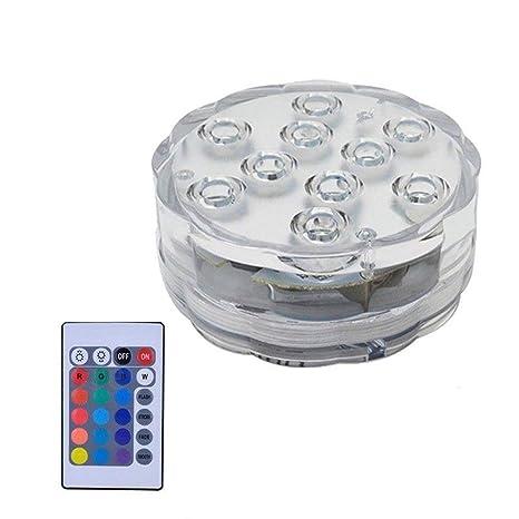Luz de piscina con control remoto Bombilla LED duradera sumergible RGB Luz duradera Lámpara portátil de