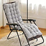 Newsoul Chaise Lounge Cushion Patio Chair Cushions Outdoor Mattress 60 inch for Garden Sun Lounger Recliner Indoor Veranda (Grey)