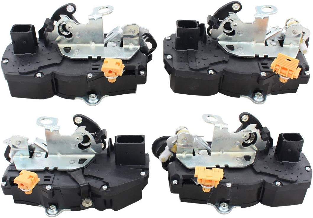 NewYall Set of 4 Front Rear Left Driver and Right Passenger Side Door Lock Actuator